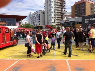 Många besökte parkeringen