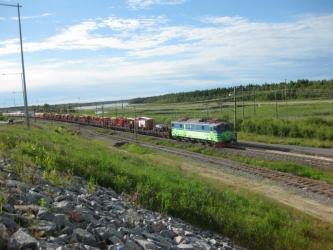 Tåget kommer till Luleå
