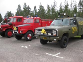 Dodge och två Volvo