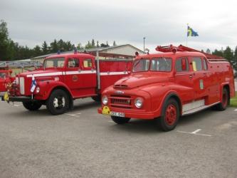 Scania 1970 och Austin 1957